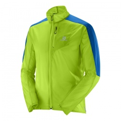 bunda Salomon Fast Wing Jacket M, granny green/union blue