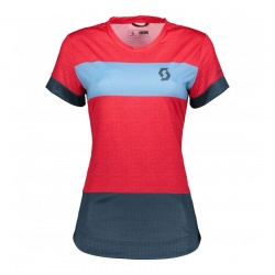 dámský dres Scott Trail 30, s/sl, nightfall blue/melon red