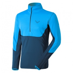triko Dynafit TLT Polartec 1/2 Zip, methyl blue