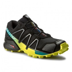 boty Salomon Speedcross 4, black/everglade/sulphur spring