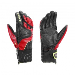 rukavice Leki Race Slide S, black/red/yellow