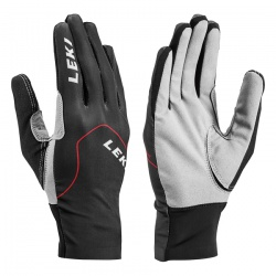 rukavice Leki Nordic Skin, black/red/graphite