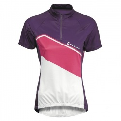 dámský dres Scott Classic, s/sl dark purple/white