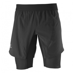 kraťasy Salomon Twinskin Short, black