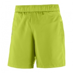 kraťasy Salomon Trail Runner Short, lime green/lipu