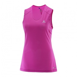 dámské tílko Salomon Trail Runner Sleeveless Tee W, rose violet